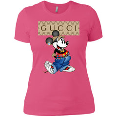 Gucci Mickey Mouse Trending T-shirt Women Cotton T-Shirt Women Cotton T-Shirt - PresentTees