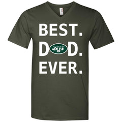 New York Jets Dad Best Dad Ever Fathers Day Shirt Mens V-Neck T-Shirt Mens V-Neck T-Shirt - PresentTees