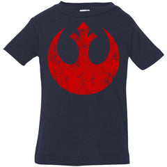 Star Wars Big Red Rebel Alliance Distressed Logo Graphic Infant Jersey T-Shirt Infant Jersey T-Shirt - PresentTees