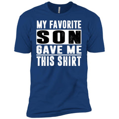 My Favorite Son Gave Me This-shirt - Mothers Day Fathers Day Gift Fromson Royal Mens Short Sleeve T-Shirt Mens Short Sleeve T-Shirt - PresentTees