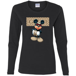 Gucci Mickey Gift Birthday T-shirt Women Long Sleeve Shirt