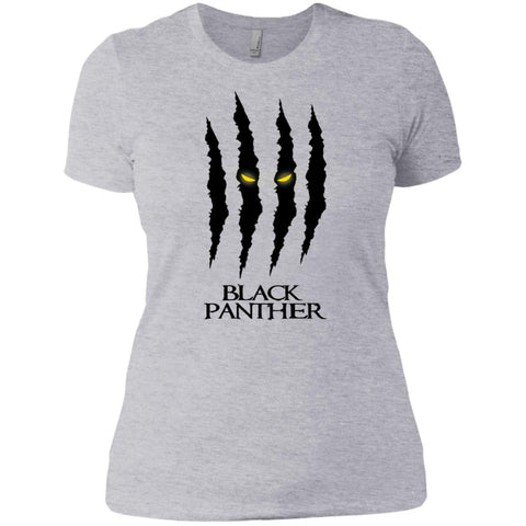 Mavel Black Panther Glares T Shirt Heather Grey / X-Small Ladies Boyfriend T-Shirt - PresentTees