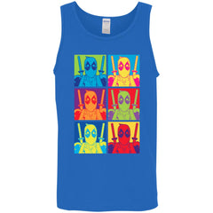 Marvel Deadpool Of Many Colors Mens Tank Top Mens Tank Top - PresentTees