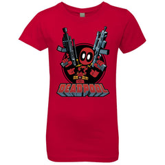 Marvel Deadpool Big Guns Girls Princess T-Shirt Girls Princess T-Shirt - PresentTees