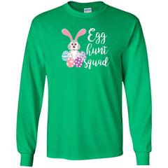 Kid's Egg Hunt Squad Easter Day Youth T Shirt Youth Long Sleeve Shirt - PresentTees