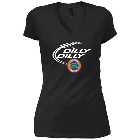 Dilly Dilly Florida Gators Shirts Black / X-Small Womens V-Neck T-Shirt - PresentTees