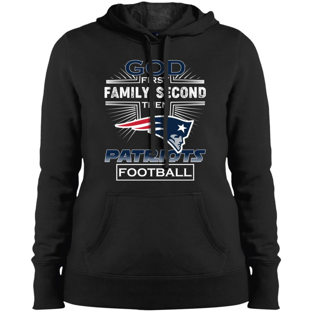 sale retailer 3a9ec d785a God First Family Second Then New England Patriots Nfl Football Sweater