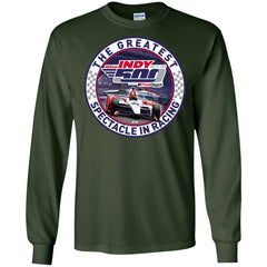 Indy 500 Shirt - The Greatest Spectaclein Racing Mens Long Sleeve Shirt Mens Long Sleeve Shirt - PresentTees