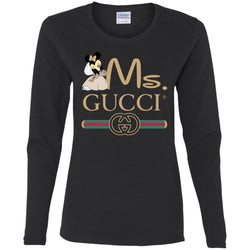Gucci Couple Disney Ms Minnie Valentine's Day 2018 T-shirt Women Long Sleeve Shirt
