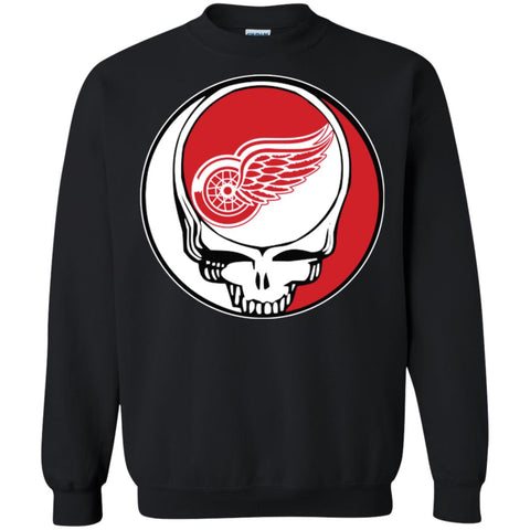 Detroit Red Wings Grateful Dead Steal Your Face Hockey Nhl Shirts Crewneck  Pullover Sweatshirt Black   6a4a7d6b2