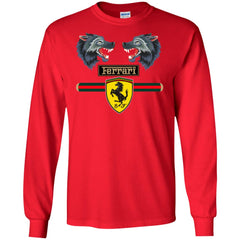 Gucci Ferrari 2018 T-shirt Men Long Sleeve Shirt Men Long Sleeve Shirt - PresentTees