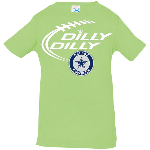 effee8b4 Dilly Dilly Dallas Cowboys Shirt Infant Jersey T-Shirt Key Lime / 6 Months  Infant