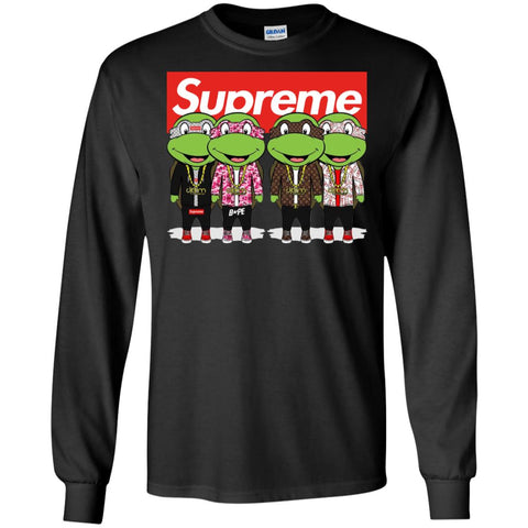 Supreme Turtle T-shirt Men Long Sleeve Shirt Black / S Men Long Sleeve Shirt - PresentTees