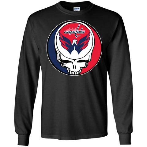 Washington Capitals Grateful Dead Steal Your Face Hockey Nhl Shirts Men  Long Sleeve Shirt Black   3ae121bd5