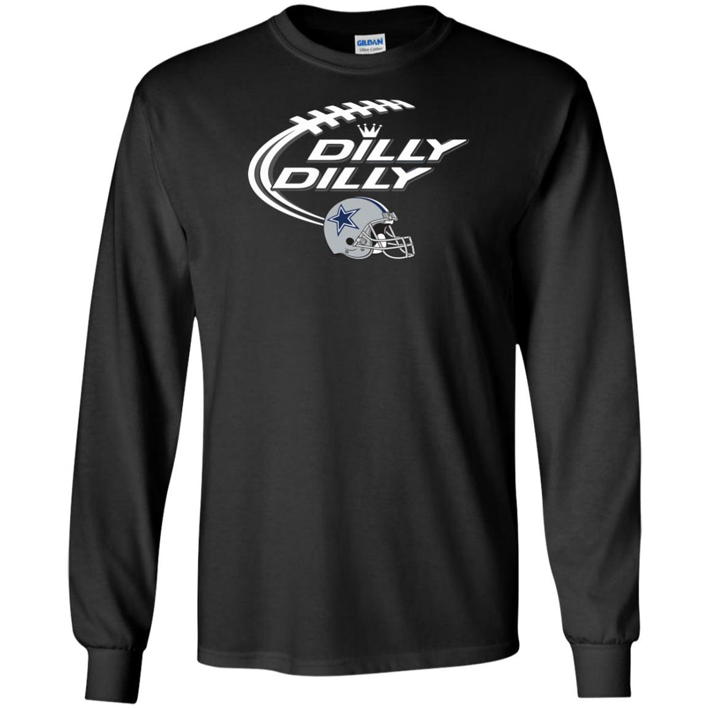 59b77d2fbe6bc Dilly Dilly Dallas Cowboy Logo American Football Team Bud Light Fathers Day  T-shirt Mens