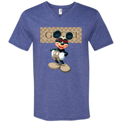 Gucci Mickey Gift Birthday T-shirt Men V-Neck T-Shirt