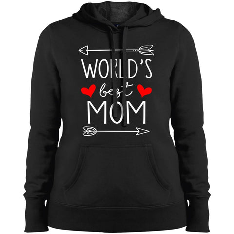 World's Best Mom Mothers Day Gift Ladies Pullover Hooded Sweatshirt Black / S Ladies Pullover Hooded Sweatshirt - PresentTees