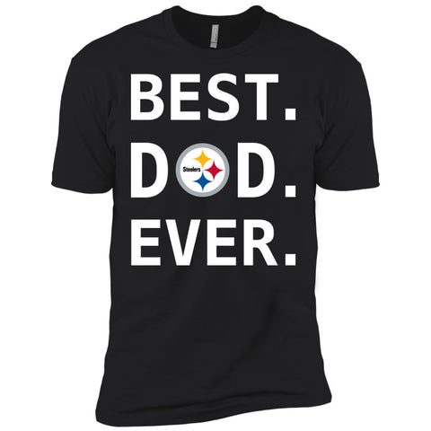 52c91146 Pittsburgh Steelers Dad Best Dad Ever Fathers Day Shirt Mens Short Sleeve T- Shirt Black