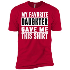My Favorite Daughter Gave Me This Tshirt - Mothers Day Fathers Day Gift From Daughter Red Mens Short Sleeve T-Shirt Mens Short Sleeve T-Shirt - PresentTees