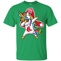 Unicorn Dabbing Boston Red Sox Baseball Mlb Shirt Youth Cotton T-Shirt - PresentTees