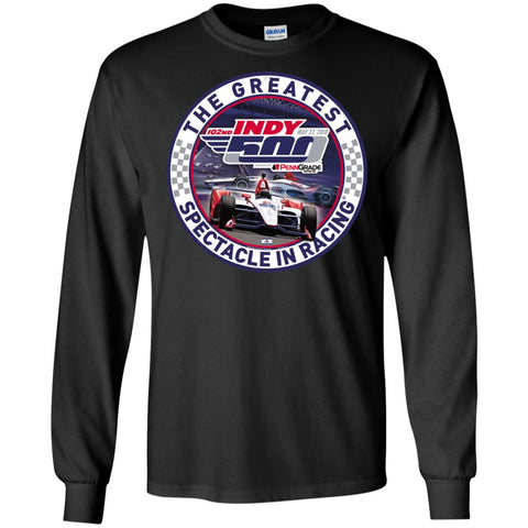 Indy 500 Shirt - The Greatest Spectaclein Racing Mens Long Sleeve Shirt Black / S Mens Long Sleeve Shirt - PresentTees