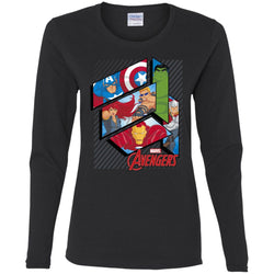 Marvel Avengers Floating Panels Adult T Shirt