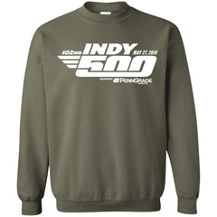 102nd Indy 500 Shirt - Indianapolis 2018 Crewneck Pullover Sweatshirt Crewneck Pullover Sweatshirt - PresentTees