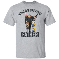 Despicable Me World's Greatest Father Gru Funny Fathers Day Gift Mens Cotton T-Shirt