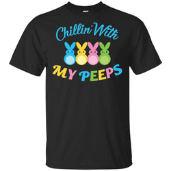 Chillin With My Peeps Bunny Easter Men Cotton T-Shirt