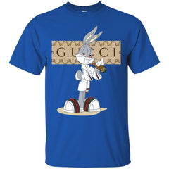 Gucci Rabbit Smoking Funny T-shirt Men Cotton T-Shirt Men Cotton T-Shirt - PresentTees