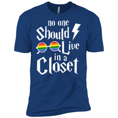 No One Should Live In A Closet Gay Lesbian T Shirt Mens Short Sleeve T-Shirt Mens Short Sleeve T-Shirt - PresentTees