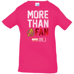 Marvel Studios More Than A Fan 10th Anniversary Infant Jersey T-Shirt Infant Jersey T-Shirt - PresentTees