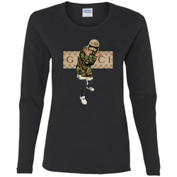 Gucci Gang Hiphop T-shirt Women Long Sleeve Shirt