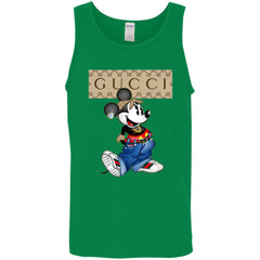 Gucci Mickey Mouse Trending T-shirt Men Cotton Tank Men Cotton Tank - PresentTees