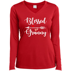 Blessed Granny Shirt - Mothers Day Gift For Granny True Red Ladies Long Sleeve V-Neck Ladies Long Sleeve V-Neck - PresentTees