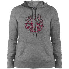 Marvel Spider Man Icon Web Ladies Pullover Hooded Sweatshirt Ladies Pullover Hooded Sweatshirt - PresentTees