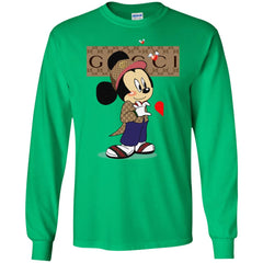 Couple Gucci Mickey Tshirt Valentine's Day Men Long Sleeve Shirt Men Long Sleeve Shirt - PresentTees