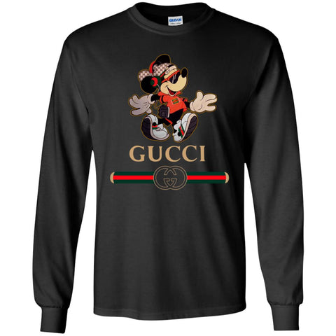 Gucci Mickey Fashion Stylelist Music T-shirt Men Long Sleeve Shirt Black / S Men Long Sleeve Shirt - PresentTees