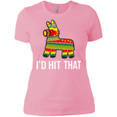 I'd Hit That Pinata Shirt - Cinco De Mayo Party Ladies Boyfriend T-Shirt - PresentTees