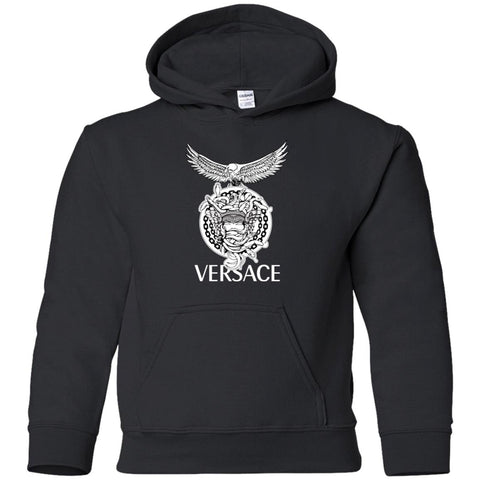 09e2d37d9b5 Versace Supervip Logo T-shirt Black   YS Youth Pullover Hoodie - PresentTees