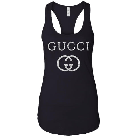 Vintage Gucci Logo Inspired Women Tank Top Black / X-Small Women Tank Top - PresentTees