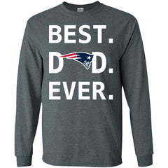 New England Patriots Dad Best Dad Ever Fathers Day Shirt Mens Long Sleeve Shirt Mens Long Sleeve Shirt - PresentTees