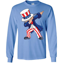 Dabbing Uncle Sam Shirt 4th Of July Independence T Shirt Mens Long Sleeve Shirt Mens Long Sleeve Shirt - PresentTees