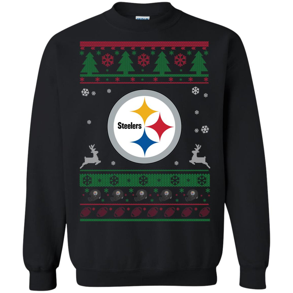 best website a74df 2f027 Pittsburgh Steelers Logo Nfl Football Ugly Christmas Sweater