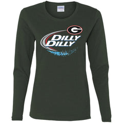 Dilly Dilly Georgia Bulldogs Nfl Ladies Long Sleeve Shirt Ladies Long Sleeve Shirt - PresentTees