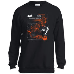 Star Wars Poe Dameron X-wing T Shirt For Kids Youth Crewneck Sweatshirt - PresentTees