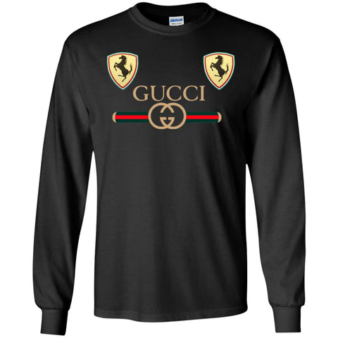 Best Gucci Ferrari New 2018 T-shirt Men Long Sleeve Shirt Black / S Men Long Sleeve Shirt - PresentTees