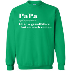 Definition Of Papa T-shirt Gift For Father's Day Crewneck Pullover Sweatshirt Crewneck Pullover Sweatshirt - PresentTees