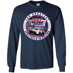 Indy 500 Shirt - The Greatest Spectaclein Racing Youth Long Sleeve Shirt Youth Long Sleeve Shirt - PresentTees
