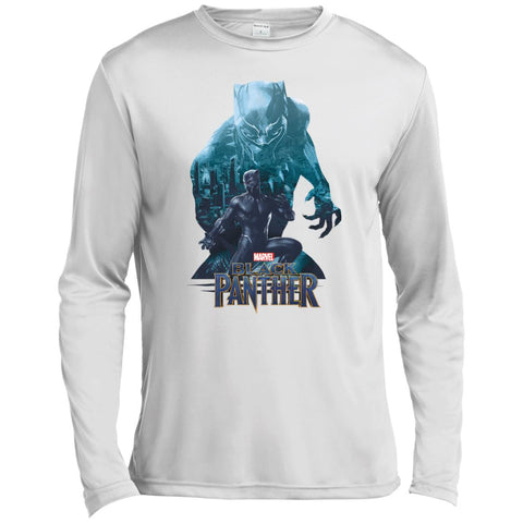 Black Panther Shirt Wakandas Finest Marvel T Shirt White / X-Small Mens Long Sleeve Moisture Absorbing Shirt - PresentTees